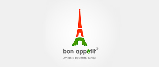 Eiffel tower paris carrot logo design collection