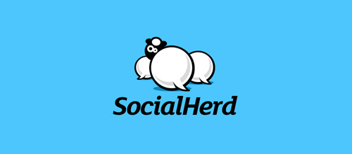 Social Herd logo designs