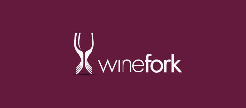 winefork logo designs