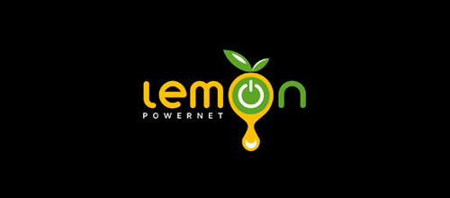 Lemon Powernet logo designs