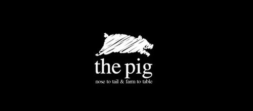 The Pig logo designs
