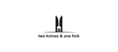 two knives & one fork logo designs