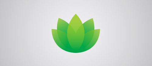 green lotus logo designs