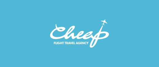 Clean airplane logos design