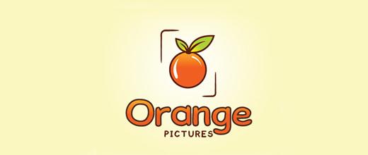 Pictures orange logo design