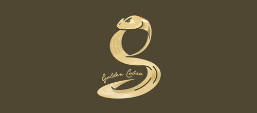 Golden Cobra logo designs