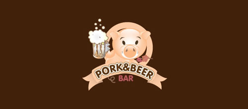 Pork & Beer Bar logo designs