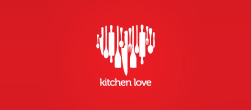 kitchen love logo designs