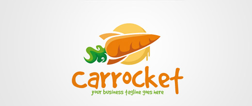 Cool rocket carrot logo design collection