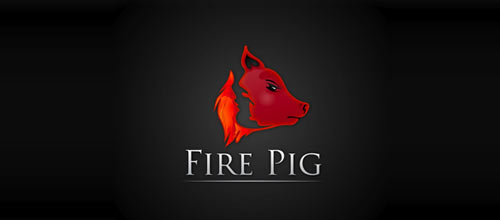 Fire Pig logo designs
