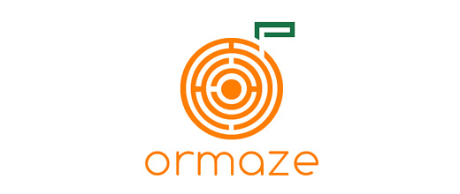 Maze fruit orange logo design