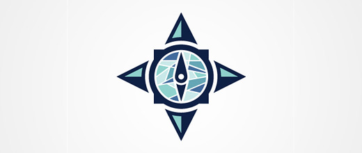 Church compass logo design collection