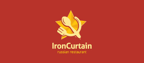 Iron Curtain logo designs