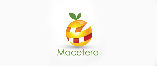 Strip peeled orange logo design