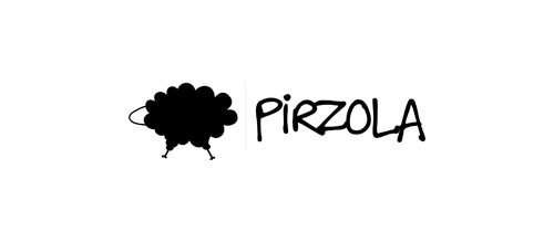 Pirzola Meat Restaurant logo designs