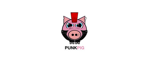 Punk Pig logo designs