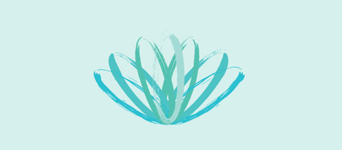 brush logo lotus