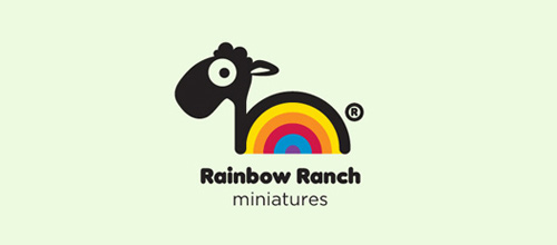 Rainbow Ranch Miniatures logo designs