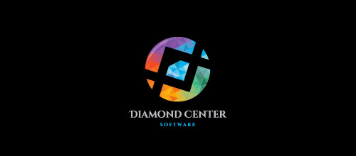 colorful low poly logo designs