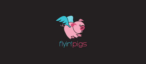 flyin'pigs logo designs
