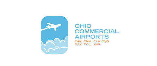 Blue airplane logos design