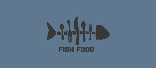 Fish Food logo designs