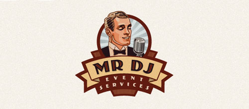 MR DJ logo designs
