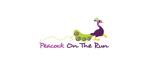 Peacock On The Run logo designs
