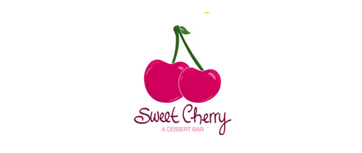 Sweet cherry logo designs