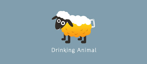 Drinking Animal logo designs