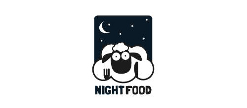 Night Food logo designs