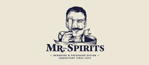Mr Spirits logo designs