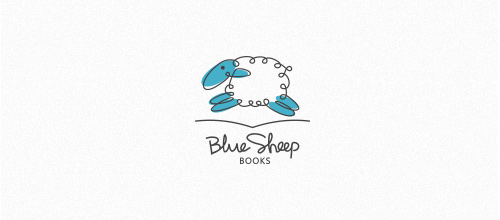 Blue Sheep Books logo designs