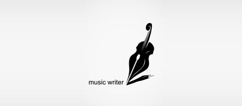 music writer logo designs