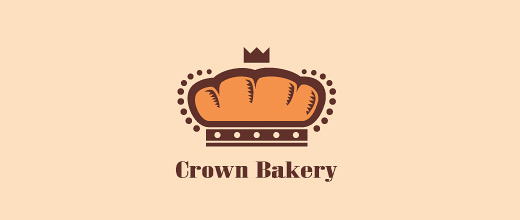 Crown bread logo designs collection