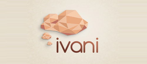 thought low poly logo designs