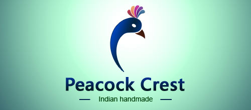 Peacock Crest logo designs