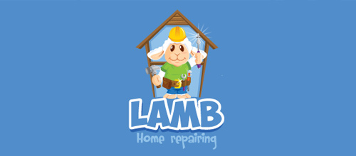 Lamb home repairing logo designs
