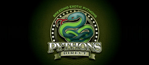 Pythons Direct logo designs