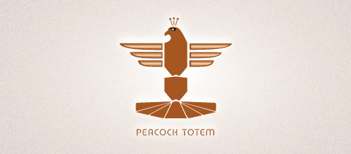 Peacock Totem logo designs