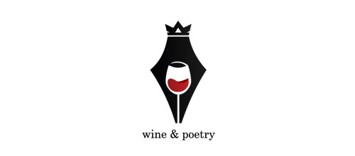 wine & poetry logo designs