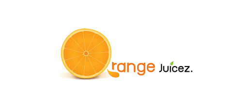 Juicy sliced orange logo design