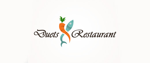 Restaurants carrot logo design collection