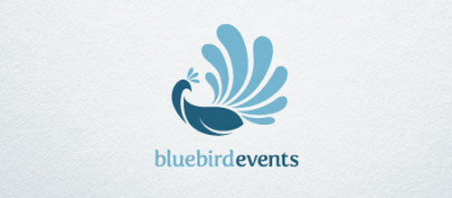 Blue Bird Events logo designs