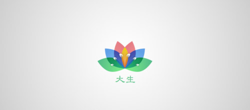 colorful logo lotus