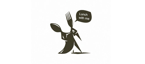 lunch with me logo designs
