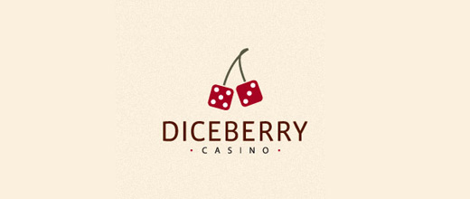 Dice cherry logo designs