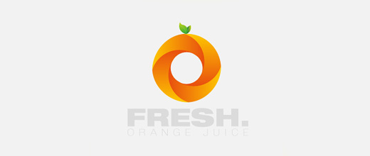 Spiral orange logo design