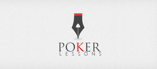 Poker Lessons logo designs