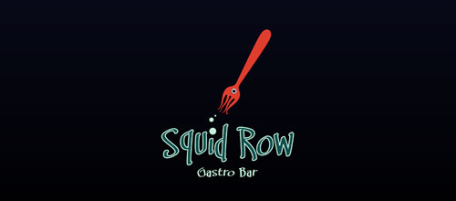 Squid Row Gastro Bar logo designs